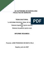 De Mata Vela, Jose Francisco - La Reforma Procesal Penal de Guatemala