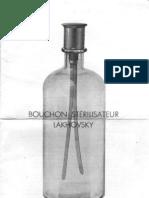 Bouchon stérilisateur Lakhovsky
