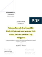 Filipino English-Attitudes Towards English and Fil-