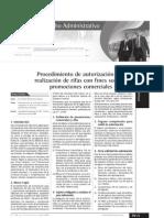 Procedimiento de Autorización de Rifas y Promociones Comerciales I