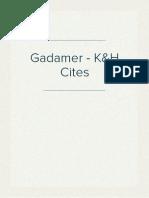 Gadamer - K&H Cites