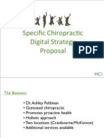 specific chiropractic digital strategy pitch