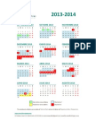 CALENDARIO ACADÉMICO 2013-2014 MARAFIKI
