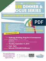 Dinner and Dialogue September 17, 2013