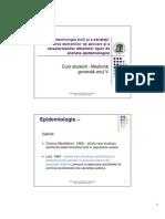 C03 - Epidemiologie