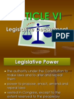 ARTICLE VI Phil Constitution