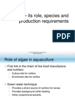 LF 2 Algae Its Role Species and Production Requirements