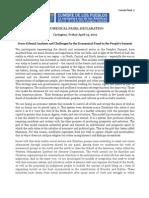 Ecumenical Panel Declaration - Ingles y Espanol