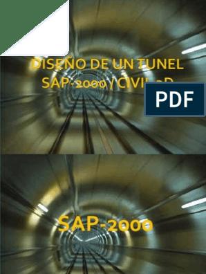 Diseño Tunel Sap Civil Naturaleza Ingeniería
