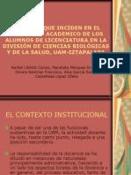 Factores que inciden en el desempeño académico de los alumnos de la División de Ciencias Biológicas y de la Salud de la UAM Iztapalapa