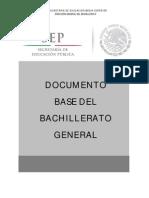 DOCUMENTO BASE DEL BACHILLERATO GENERAL
