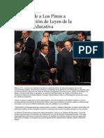 10-09-2013 Puebla on Line - RMV acude a Los Pinos a promulgación de Leyes de la Reforma Educativa