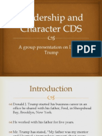 Charismatic Leadership PPT (Donald Trump)