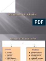 Recruitment & Selection, Placement , Induction