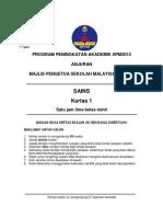 Trial Kedah Science SPM 2013 Paper 1