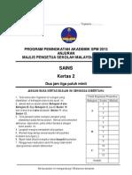 Trial Kedah Science SPM 2013 Paper 2