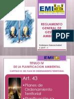 Expo Reglamento General de Gestion Ambiental