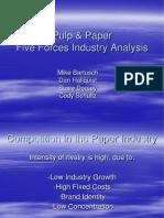 Pulp Paper Five Forces