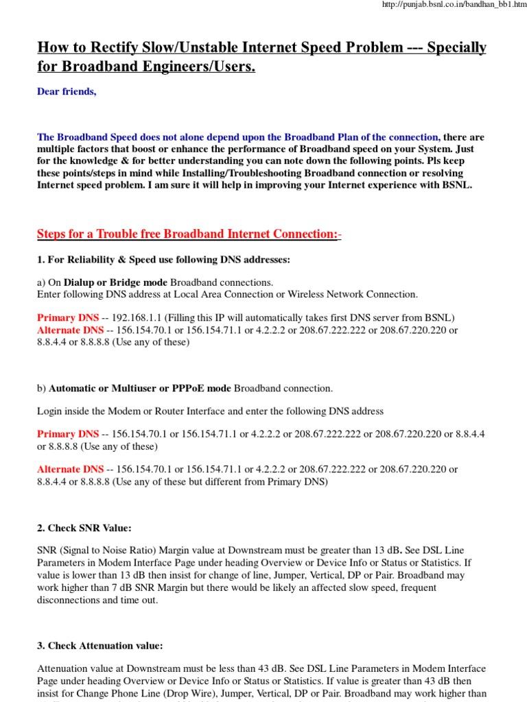 BSNL Broadband Servers | Internet Access | Modem