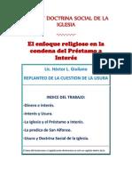 REPLANTEO DE LA CUESTIÓN DE LA USURA- Lic. Héctor L. Giuliano-