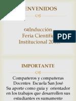 INDUCCIÓN  FERIA CIENTIFICA