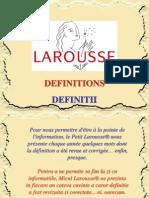 Noi Definitii Larousse