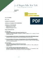 Niagara Falls Planning Board agenda - Sept. 11, 2013