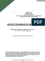 Notice Securite Erp Categories 1-2-3-4