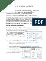 Para cambiar el fondo de escritorio de Windows.doc