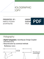 Digital Holography Microscopy