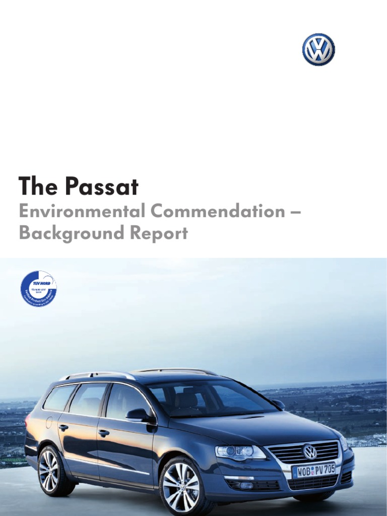 the passat life cycle assessment exhaust gas rh scribd com B6 Passat Interior B6 Passat Interior
