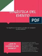 logística del evento