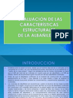 EVALUACIÓN DE LAS CARACTERÍSTICAS ESTRUCTURALES albañileria