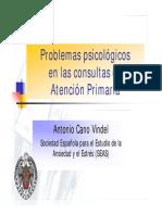Problemas Psicologicos en Las Consultas de Atencion Primaria