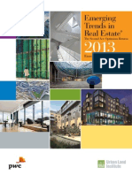 Pwc Emerging Trends in Real Estate 2013 Europe