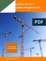 Praxisratgeber Vergaberecht Newsletter September 2013