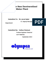 Report on New Demineralized Water Plant