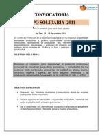 -Convocatoria Exposolidaria 2011