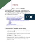 Anonymous FTP FAQ