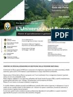 Università del Bosco - Corsi di formazione 2009