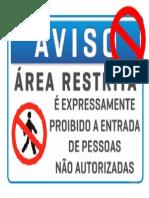 placa área restrita