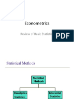 review of bas stats for econometric success