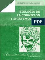 Biologia de La Cognicion y Epistemologia - Omni