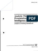 CIA - Analytic Thinking and Presentation for Intelligence - Analysis Training Handbook