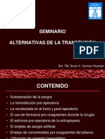 Seminario de Alternativas de Transfusion