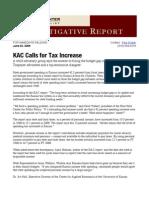 Kansas Action for Children Calls for Tax Increase - Paul Soutar - Flint Hills Center