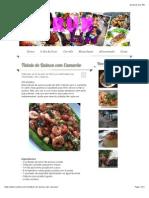 Tabule de Quinoa com Camarão - run2live