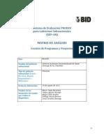 Matriz de Anaísis de Gestion de Programas y Proyectos del GAD Provincial de Sto Dgo