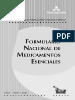 Formulario Nacionla de Medicamentos Escenciales