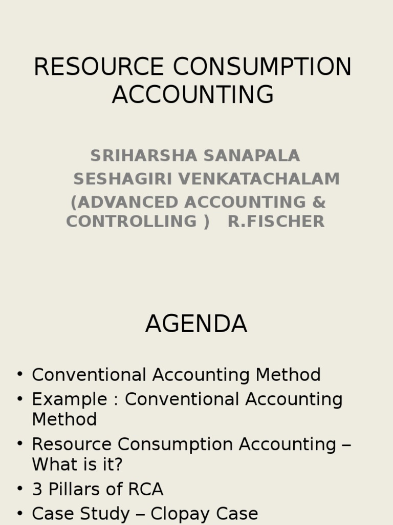 conventional accounting